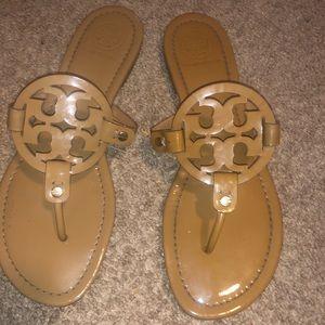 Tan Tory Burch Miller Sandals
